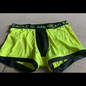 Men's American Eagle neon yellow boxer trunk Large